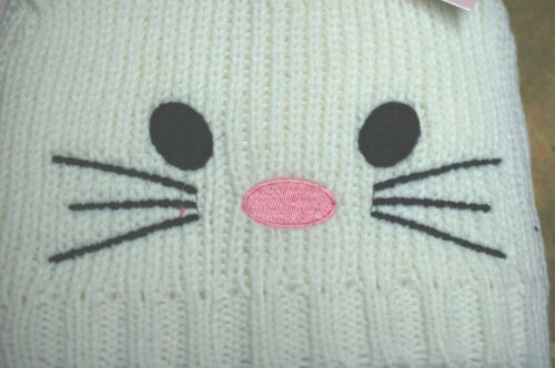 3 Colours Girls Knitted Winter Hat With Cat Face and Ears