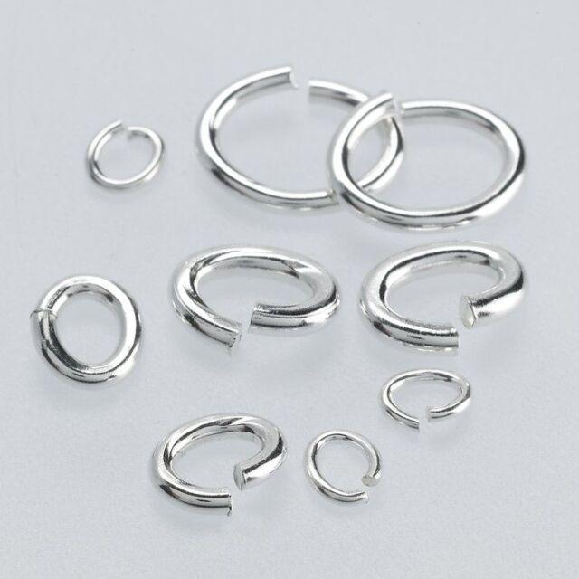 10 x 6mm Sterling Silver Closed Jump Rings 0.9mm 19 Gauge