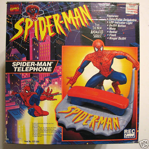 SPIDER-MAN Animated Series Figural TELEPHONE 1994 MIB