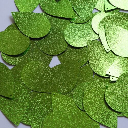 "rdrop Sequin 1.5"" Lime Green Metallic Embossed Texture Couture Paillettes"