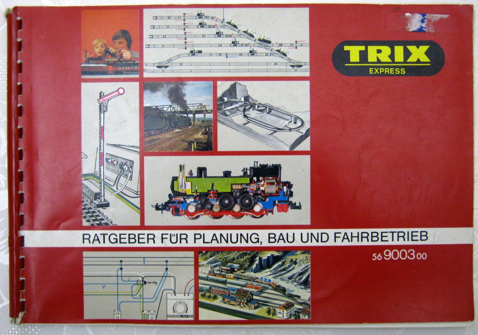 TRIX EXPRESS H0 Ratgeber Gleispläne Bau Fahrbetrieb 56900300 56900300 56900300 1974 umfangreich  | Abgabepreis  98dfd9
