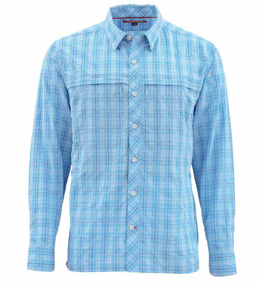 Simms Stone Cold LS Shirt  Indigo Plaid  XL  gratuito US Shipping