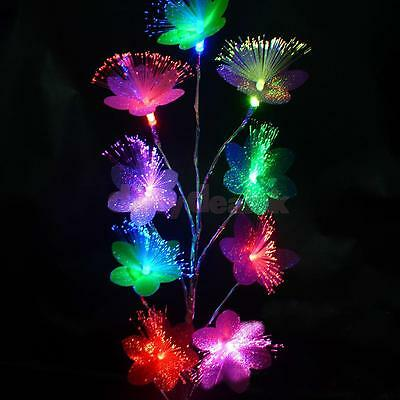 Color Changing Flower LED Tree Night Light Table Lamp Home Decor + USB Cable