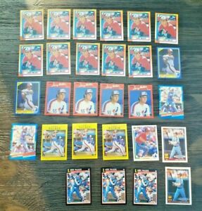 MONTREAL-EXPOS-LARRY-WALKER-ROOKIE-BASEBALL-CARD-LOT-28X-HOF-DONRUSS-TOPPS
