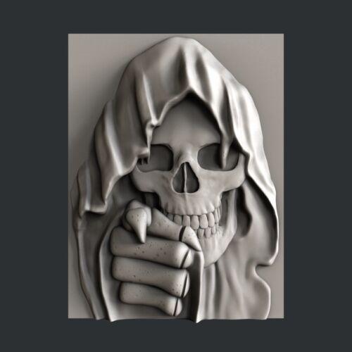 Aspire Artcam 3d STL models for CNC relief  Skull