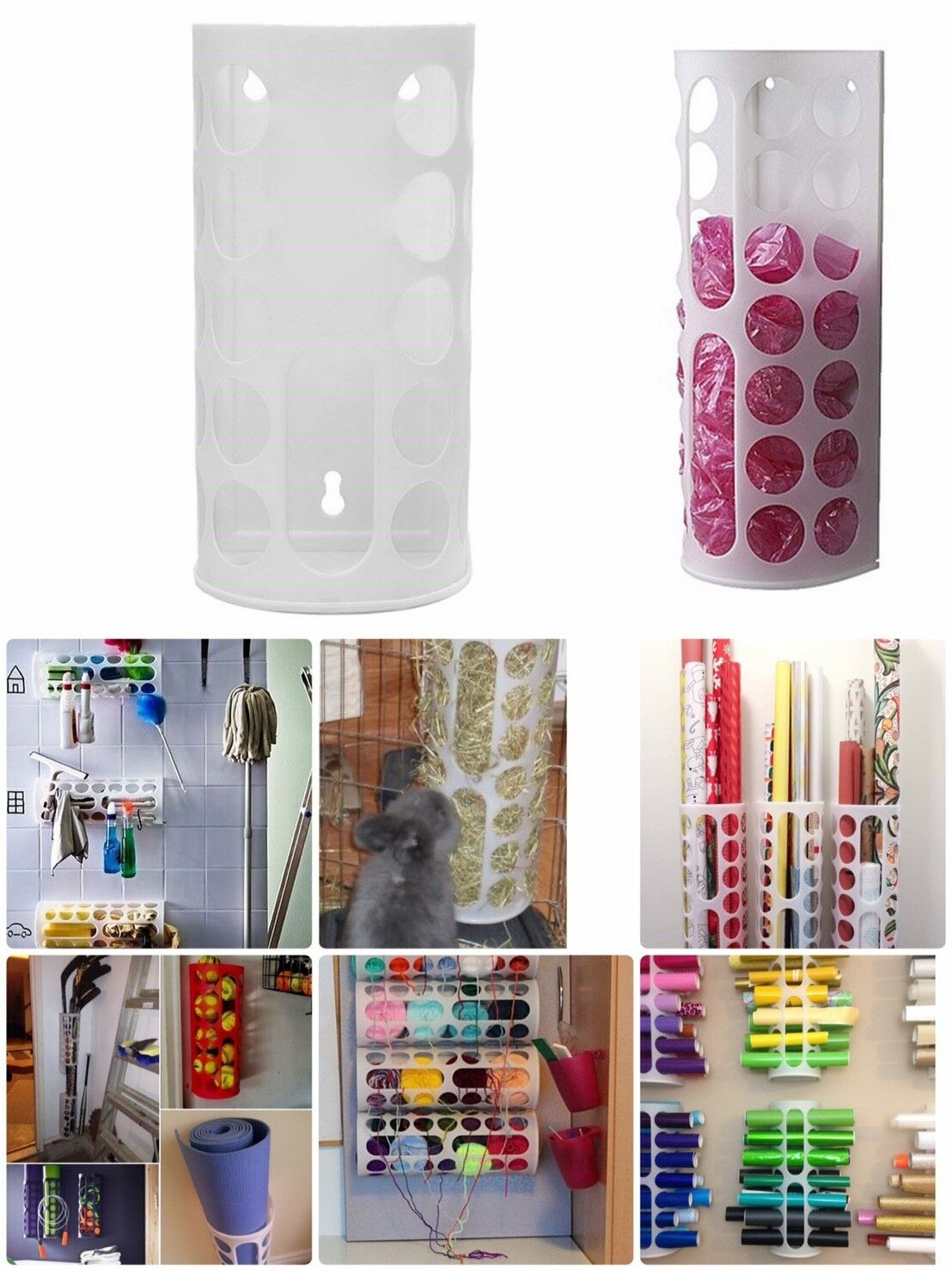 NEW Plastic Bag Dispenser IKEA Variera DIY Organize Craft Yarn Cloth Fabric Roll