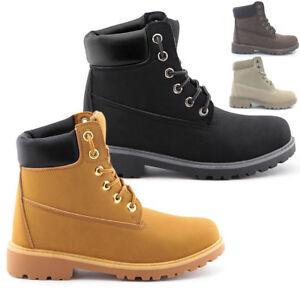 Scarponcini stivali anfibi scarpe uomo donna Pelle PU trekking Sneakers T50