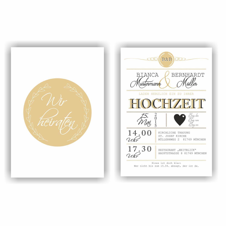 Einladung zur Hochzeit I Hochzeitseinladung Wedding Einladungskarte HO11