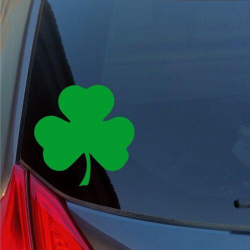 Shamrock vinyl sticker decal car truck locker Irish lucky St Patrick/'s Boston
