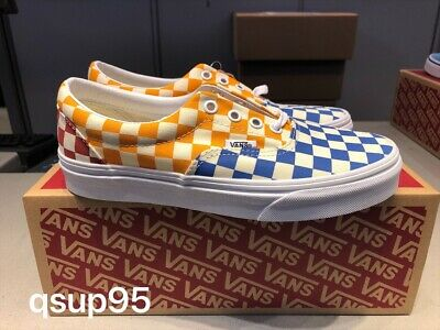 Vans ERA Multi Checkerboard VN0A38FRVLV Yellow Blue Red Men Women ...