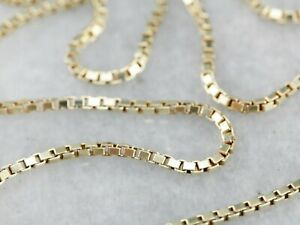 14K-Solid-Yellow-Gold-Box-Necklace-Real-Gold-Chain-16-034-18-034-20-034-22-034-24-034-26-034-30-034