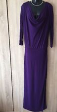 DESIGNER HALSTON HERITAGE PURPLE WOMEN GOWN DRESS Sz 2 UK6 RRP £530