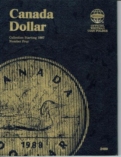 New Whitman Canadian Dollar Folder #4 for all Loonie/'s from 1987 Through 2012!