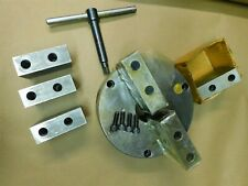 Bison 2 Jaw Lathe Chuck With Chuck Key Plain Back 3105 8 With 2 Sets Jaws