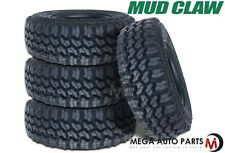 4 X Mud Claw Extreme MT 31x10.50R15LT 109Q C All Terrain Performance Mud Tires