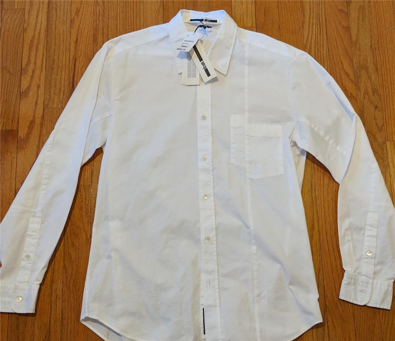 Mens McQ Alexander McQueen Button Up Sport Shirt Optic White 40 US Medium