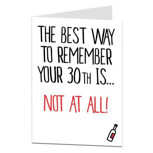 30th Birthday Card 30 Thirty Today For Her Him Friend Sister Brother Men Women