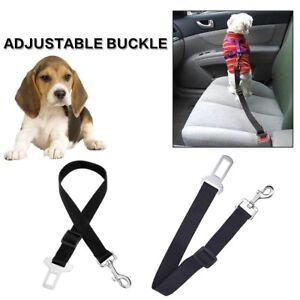 Adjustable Harness Lead Dog Pet Safety Seat Belt Restraint Strap for