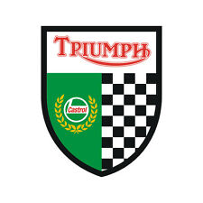 Sticker plastifié TRIUMPH CASTROL Daytona Thruxton Speed Street - 8,5cm x 7cm