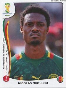 N°093 NICOLAS NKOULOU # CAMEROON STICKER PANINI WORLD CUP BRAZIL 2014