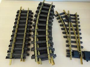 LGB-1210-Weiche-amp-Gleise-8-gebogene-3-gerade-top-Zustand