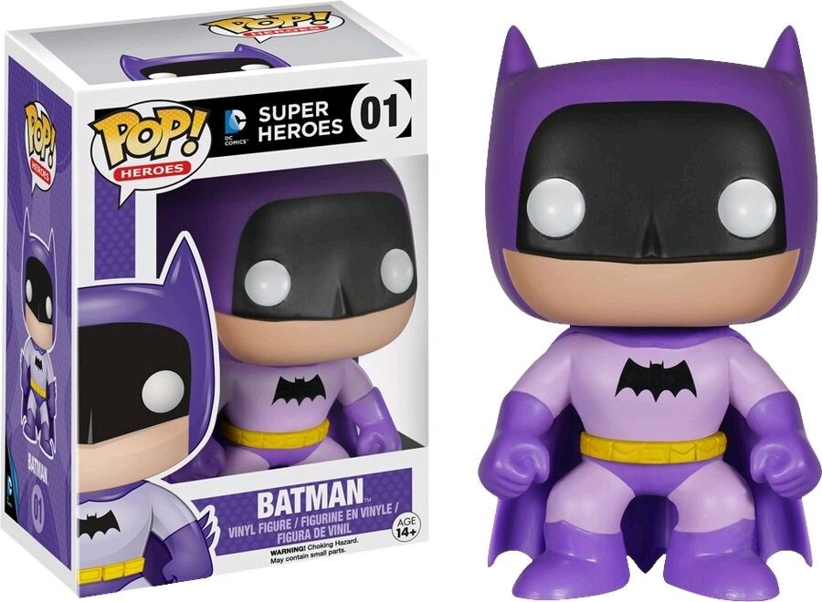 FUNKO POP SUPER HEROES DC COMICS  01 BATMAN 75th ANNIVERSARY RAINBOW lila