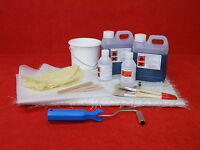 Fibreglass Kit 2m² Coverage Glass Fibre Repair 2 metres + Tools