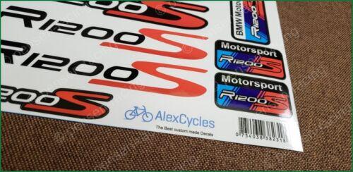 BMW Motorrad Motorsport R1200S Red Laminated Decals Stickers Kit
