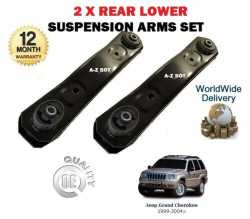 FOR JEEP GRAND CHEROKEE  2.7 3.1 4.0 4.7 1998-2004 2 X REAR LOWER SUSPENSION ARM