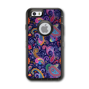 the latest 01aca c68b5 Details about Skin Decal for Otterbox Defender iPhone 6 Case / Purple  Paisley