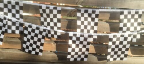 Chequered Flag F1 Grand Prix Fabric Bunting various lengths wholesale free post
