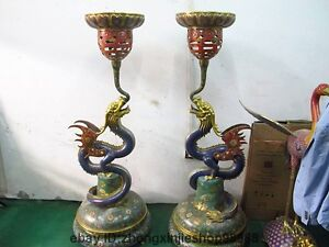 Palace Huge Candle Holder Bronze Enamel