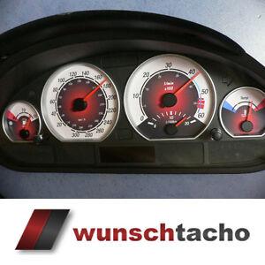 Tachoscheibe-fuer-Tacho-BMW-E46-Diesel-Rote-Nove-Carbon-034-310-kmh-Top