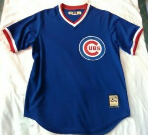 new style df5c5 aafad Details about CHICAGO CUBS COOPERSTOWN COLLECTION Royal Blue Pullover  Baseball JERSEY L NWOT