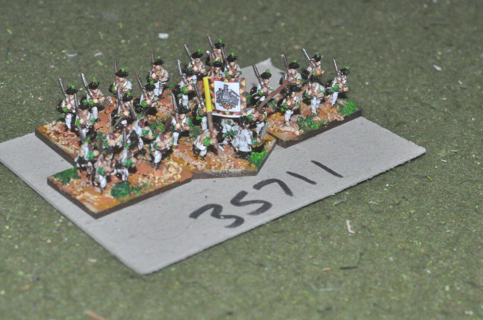 10mm 7YW   austrian - regiment 30 figures - inf (35711)