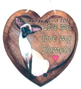 Siamese-cat-art-sign-heart-from-original-painting-laminated-by-Suzanne-Le-Good