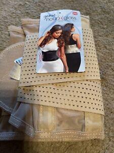 Genie Hourglass Belt Waist Trainer Shapewear for Women, Nude S/M