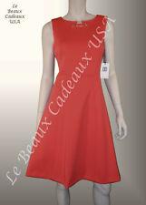 IVANKA TRUMP Women Dress Size 8 PERSIMMON Knee METAL ACCT Sleeveless NEW LBCUSA
