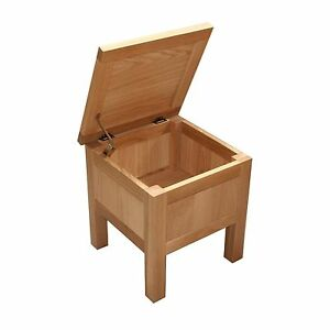 Details About Oak Storage Coffee Table Toy Blanket Box Side