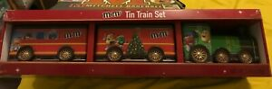 M-amp-M-039-s-Collectible-Tin-Christmas-Train-Set-with-Chocolate-Candies-2-76-oz