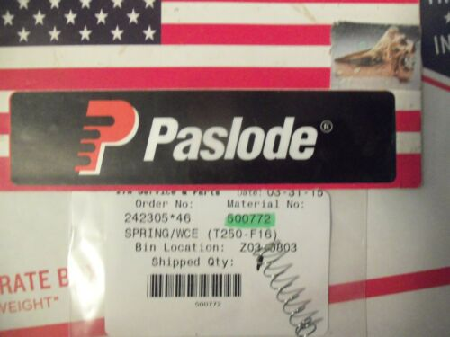 """T250-F16 /""""GENUINE/""""  Paslode # 500772  SPRING//WCE"""