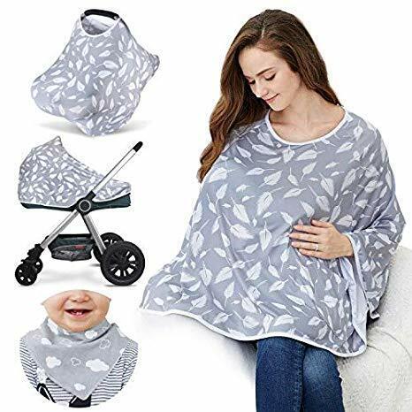 Cubierta de Lactancia Multiuso Para Bebes Cubierta para Asiento de Coche Poncho