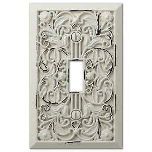 image is loading arabesque filigree antique white switchplate outlet cover wall