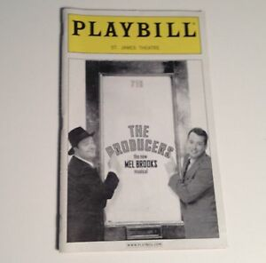 Playbill-2001-The-Producers-St-James-Theatre-Matthew-Broderick-Nathan-Lane-NYC