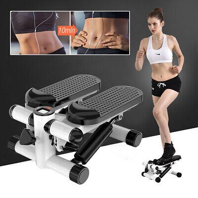 Swing Stepper Fitness Mini Stepper Fitnessbändern Twister LCD Stepper schwarz