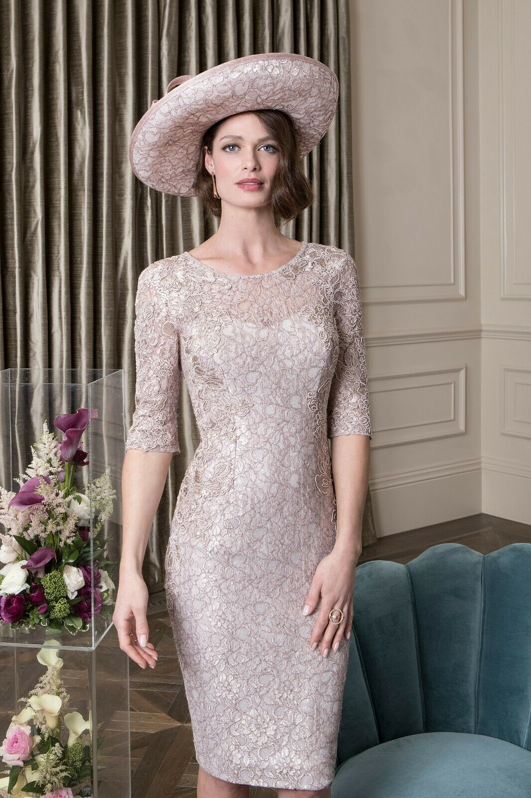 John Charles 26450A Mother Of The Bride Cocktail 3 Piece Wedding Dress UK 8 36