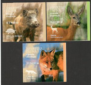CROATIA-MNH** BOOKLET-CROATIAN FAUNA-WOODLAND ANIMALS-ROE DEER, FOX, BOAR-2015.