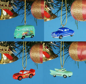 Disney Cars Christmas Tree.Details About Disney Cars Hudson Lightning Mcqueen Decoration Xmas Tree Ornament Decor 4pcs