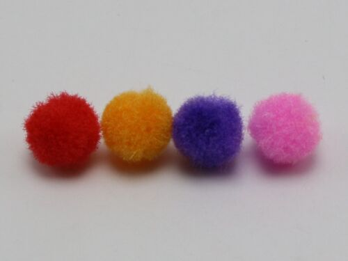 500 Mixed Color Soft Fluffy Pom Poms for Kids DIY Crafts Pompoms Ball 10mm