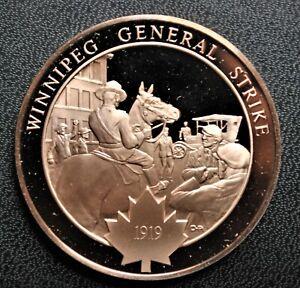 1919 Winnipeg General Strike: 1974 History of Canada Proof Bronze Medal